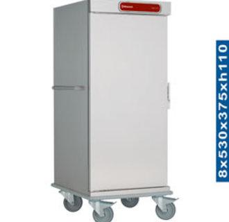 CNS20-ISO Neutrale wagen voor 8 dienbladen isotherme