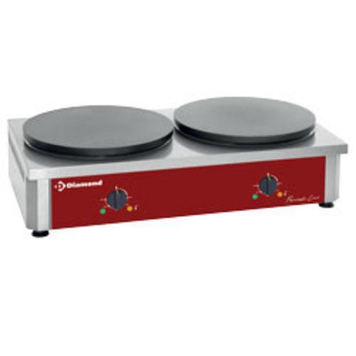 """Diamond BRET/2E-R Dubbele elektrische pannenkoekplaat hoog rendement, Ø 400 mm """"geëmailleerd"""""""