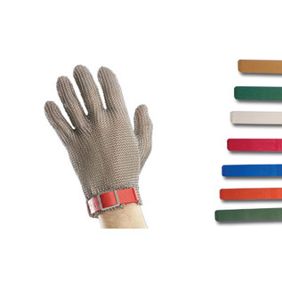 slagers handschoen L blauw