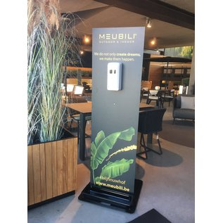 Gepersonaliseerde dispenserzuil met uw logo of foto