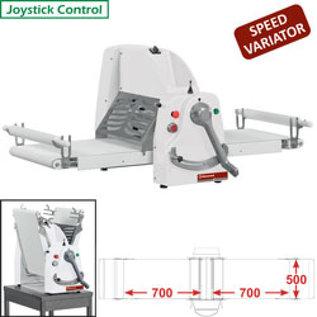 Diamond Band-uitroller, tafelmodel, 500x700 mm - Variabele snelheid LB50-75/MVV