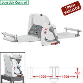 Diamond Band-uitroller, tafelmodel, 500x1000 mm - Variabele snelheid LB50-100/MVV