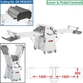 Diamond Band-uitroller op voetstuk, 600x1400 mm LM/60-140SS