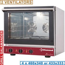 Diamond Elektrische convectieoven, 4x 460x340 mm + salamander BRIO43S/X-P