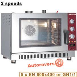 Diamond Convectie oven op gas, 5x EN(GN) automatische bevochtiger PFG-52/P