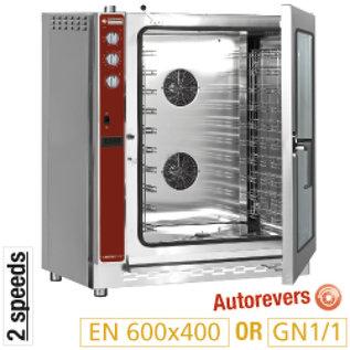 Diamond Convectie oven op gas, 10x EN(GN) automatische bevochtiger PFG-102/H