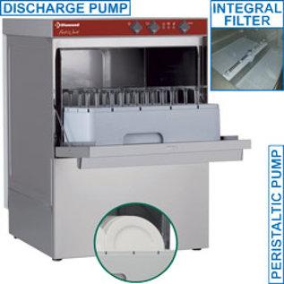 Glazenwasser en vaatwasser vierkante mand 450x450 mm + afvoerpomp