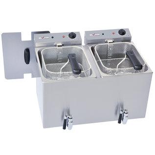Diamond Elektrische friteuse tafelmodel 2x 8 liter + aftapkraan