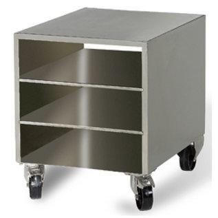 Diamond R.V.S. steun kast voor vacuummachine, op wielen, verwijderbaar