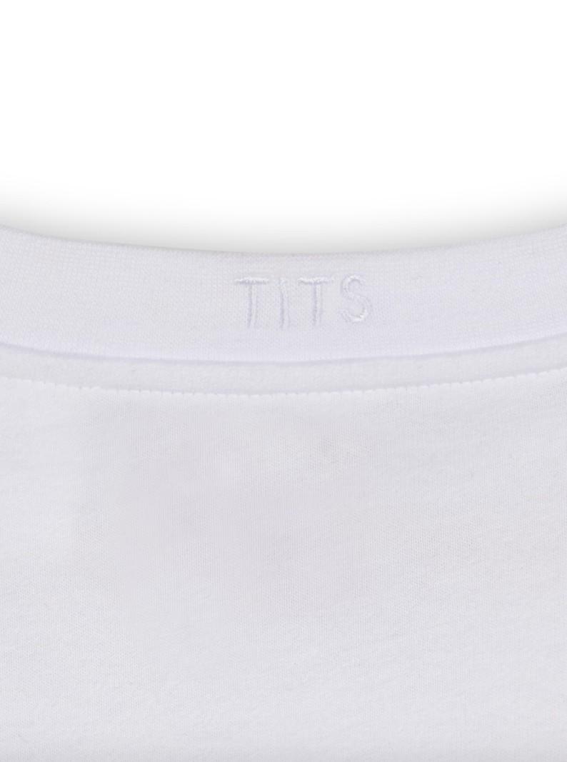 T.I.T.S. TITSSHIRT WHITE/BLACK