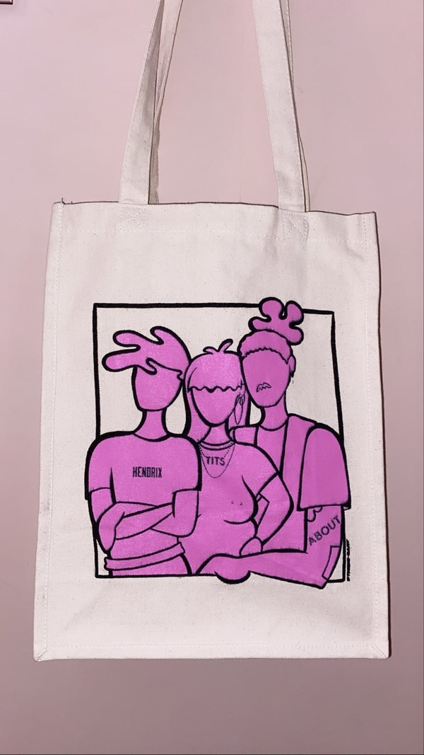 T.I.T.S. Support your locals totebag