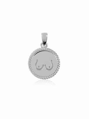 T.I.T.S. TWO SIDES PENDANT SILVER