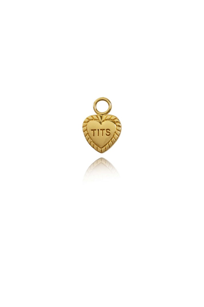T.I.T.S. T.I.T.S. HEART PENDANT FOR EARRING GOLD