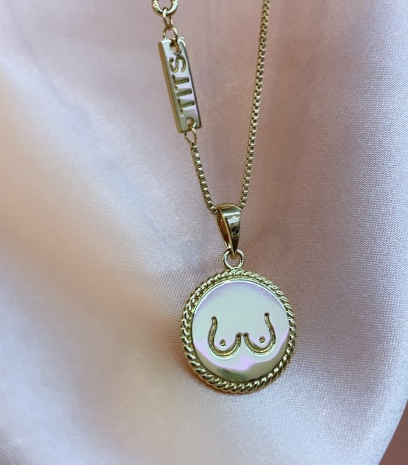 T.I.T.S. TWO SIDES PENDANT GOLD