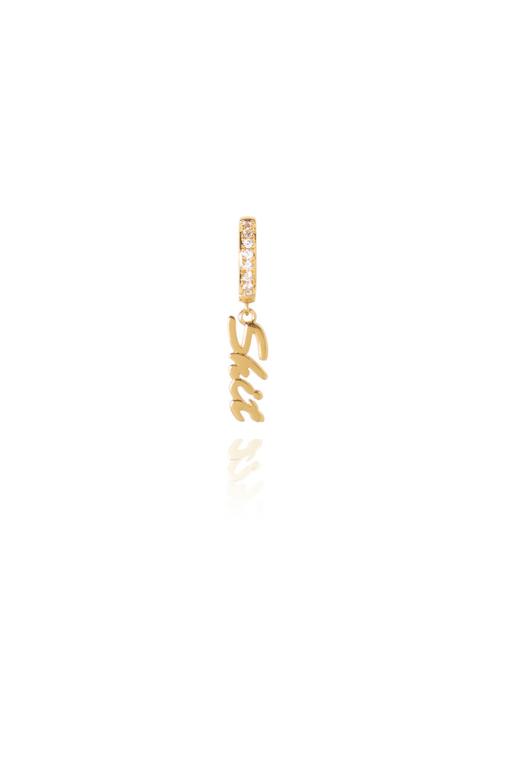 T.I.T.S. SHIT CRYSTAL EARRING GOLD
