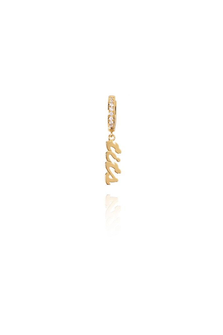 T.I.T.S. TITS CRYSTAL EARRING GOLD