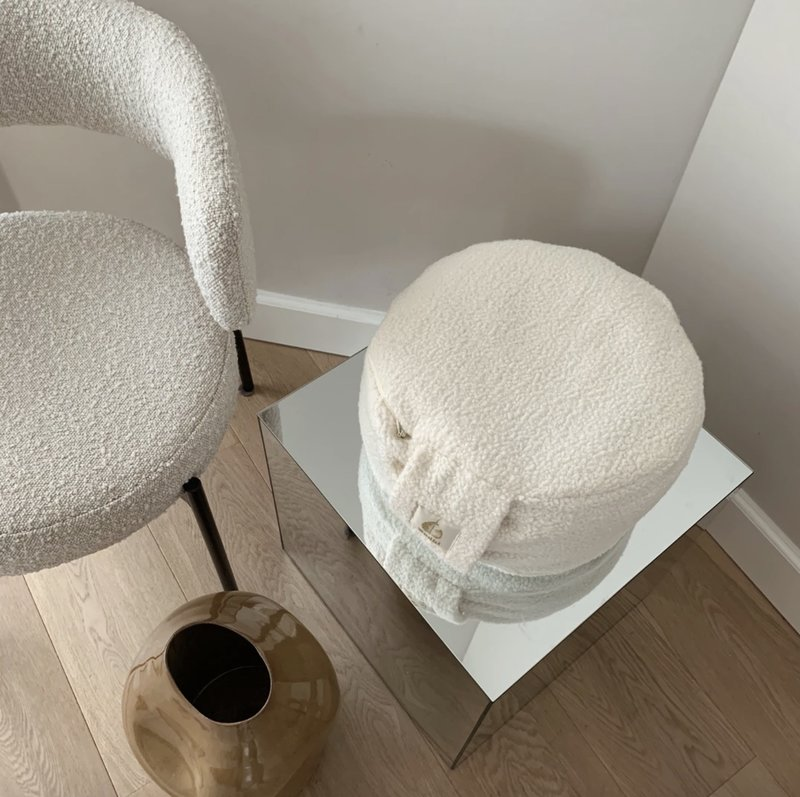 The Goddess Club by Florine Duif BODHI PILLOW TEDDY OFFWHITE
