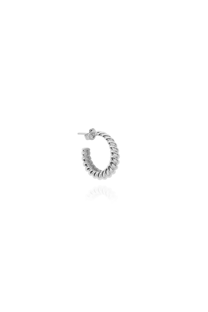 T.I.T.S. CROISSANT EARRING SILVER