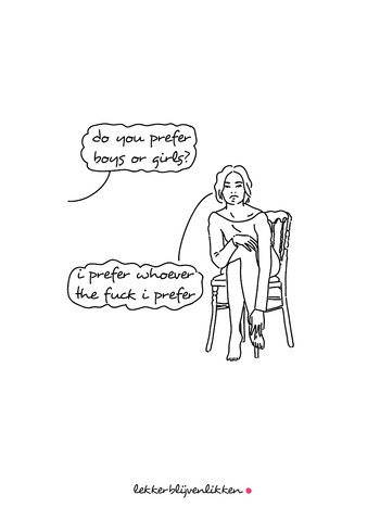 Lekker Blijven Likken 'DO YOU PREFER...' POSTER A5