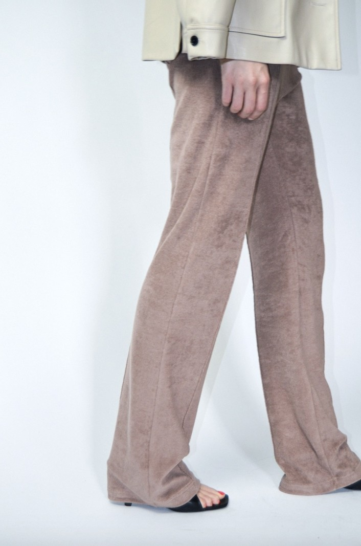The Five THE EVERYDAY TROUSERS TAUPE TERRY