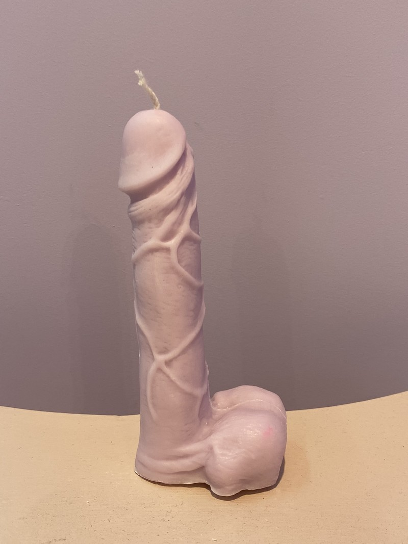 PENIS CANDLE LILAC