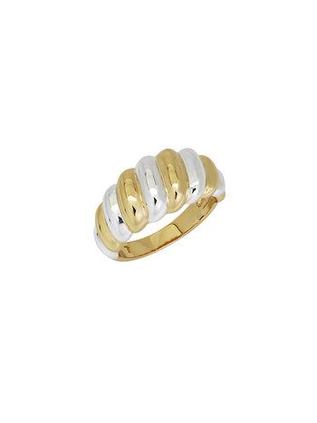 T.I.T.S. GOLD & SILVER TWIST RING