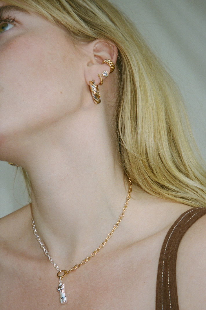 T.I.T.S. GOLD & SILVER CLASP NECKLACE
