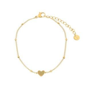 Armband met gesloten hartje - Goudkleurig