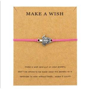 Make a wish armband met schildpad