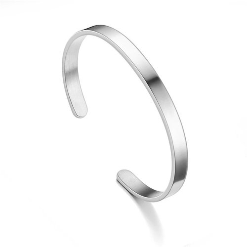 Roestvrijstalen bangles armband in zilver, goud, rose en zwart