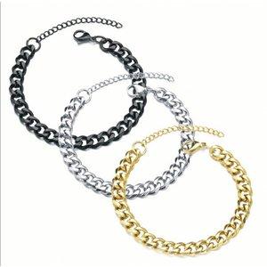 Heren armband van roestvrij staal in 3 kleuren