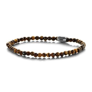 Brown Tigereye Beads Bracelet with Stainless Steel Bead