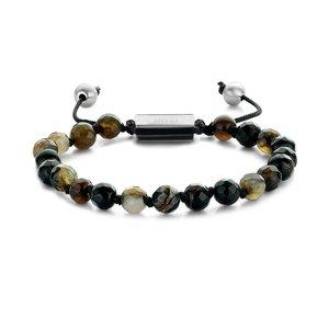 Woven Dark Brown Lace Agate Bracelet