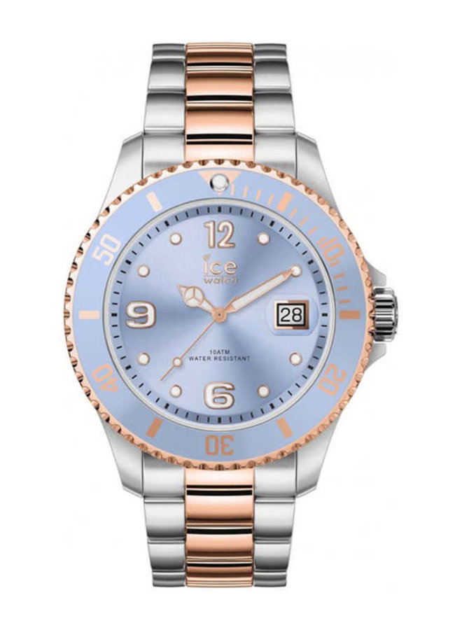 Ice Watch 016770 ICE STEEL - SKY SILVER ROSE-GOLD - MEDIUM