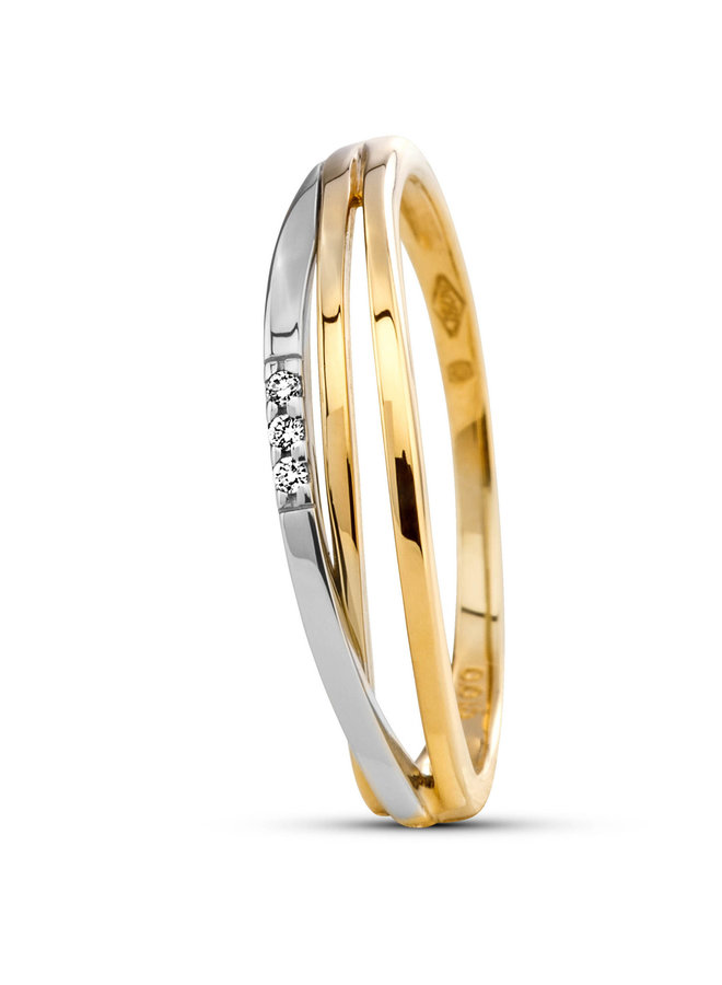 Ring goud 18kt 051652/a 0.015ct