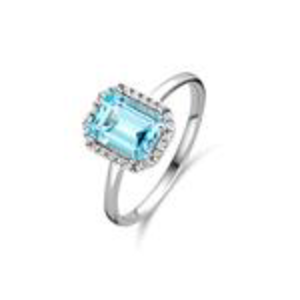 Beheyt Entouragering Goud 18kt 063010/TA 0,10Ct top.skyblue
