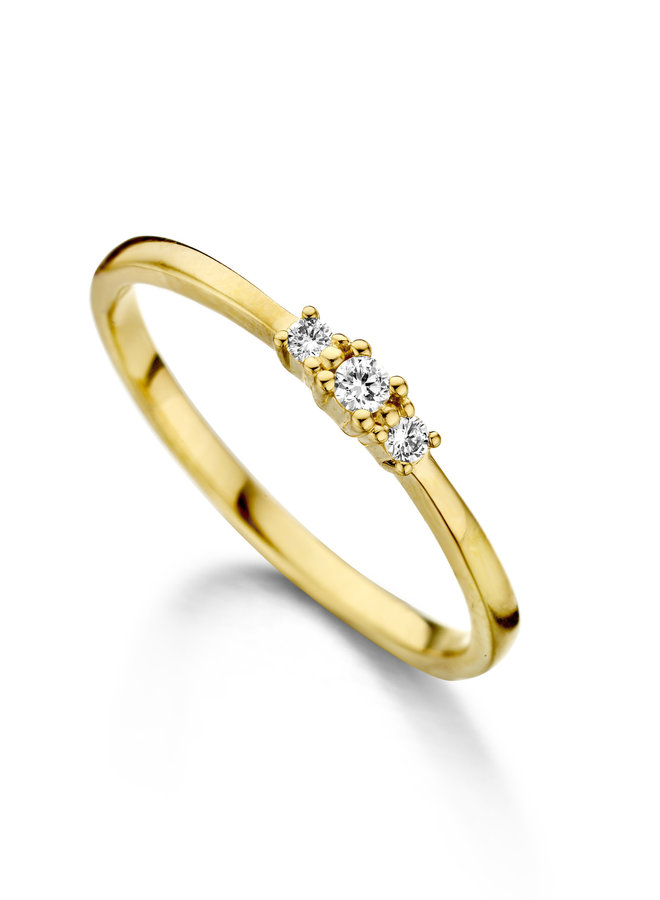 Ring goud 18kt 057440/A 0.08Ct