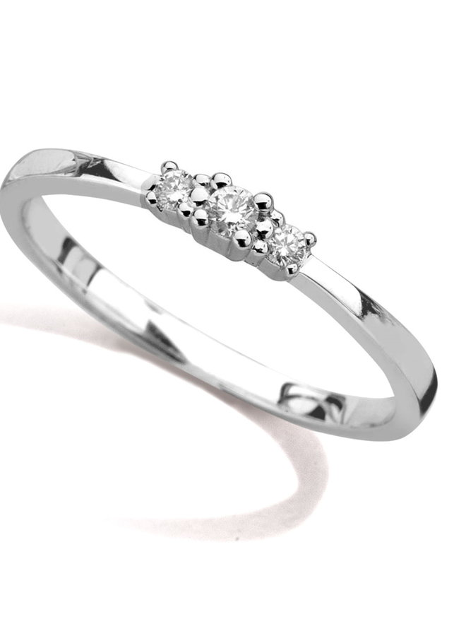 Ring goud 18kt 057441/A 0.08Ct