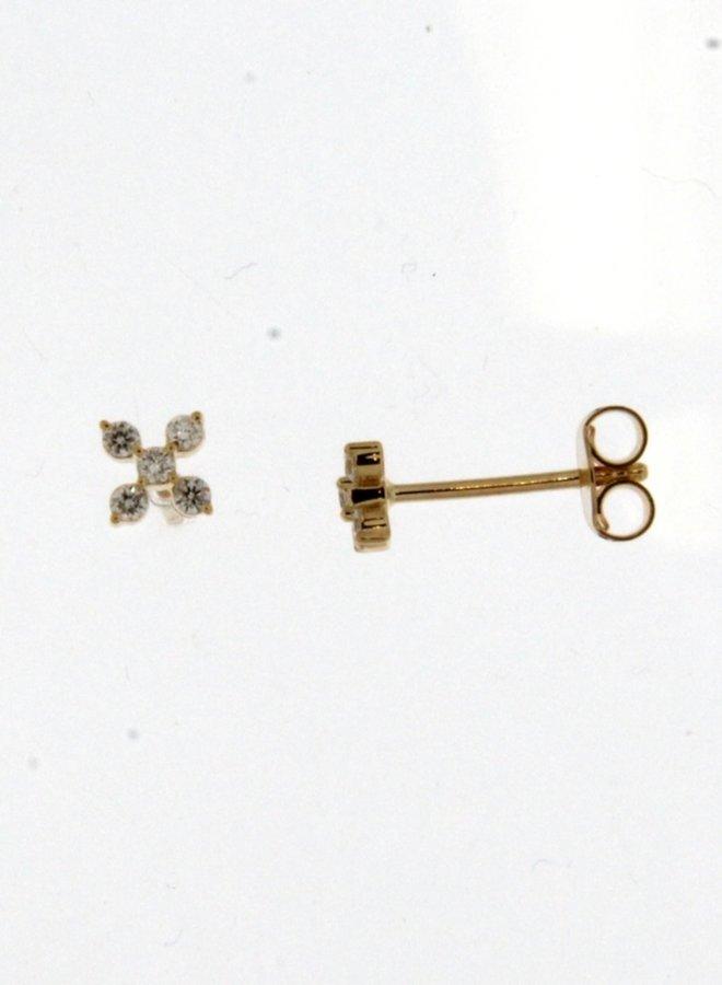 Oorbellen goud 18kt 062548/A 0.14Ct