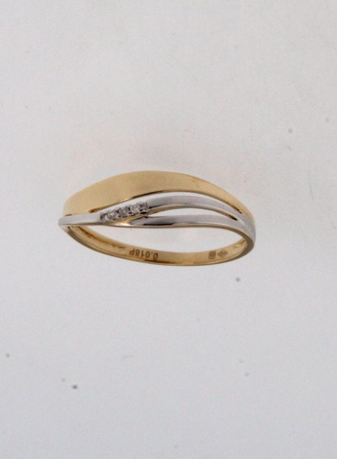 Ring goud 18kt 063449/A 0.015Ct
