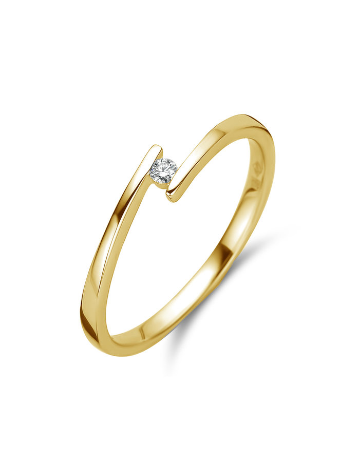 Ring goud 18kt 91BX20/A 0.03Ct