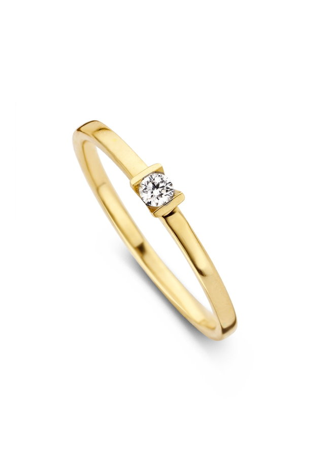 Ring goud 18kt 91CW26/A 0.07Ct