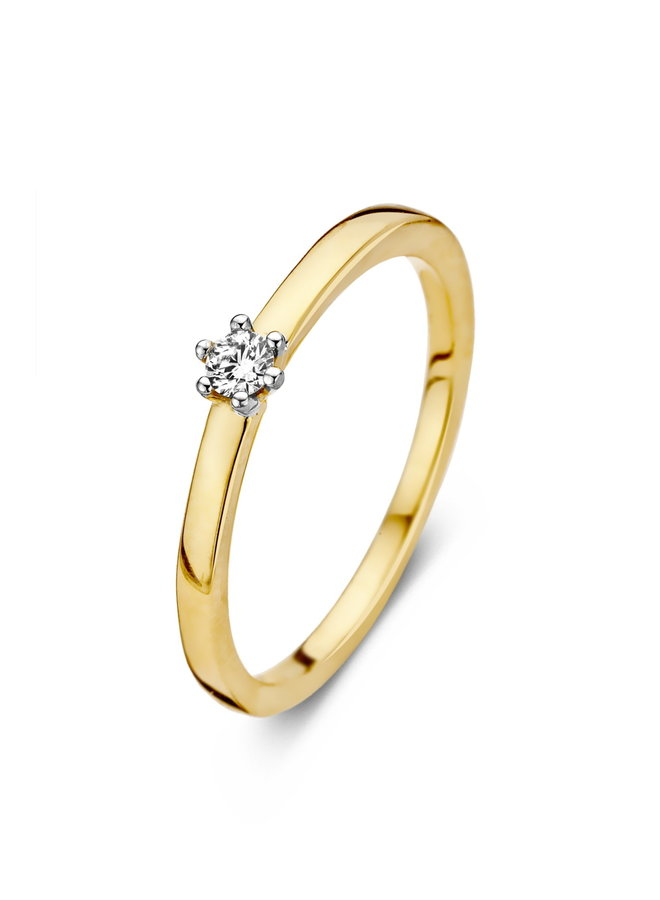 Ring goud 18kt 91EH29/A 0.09Ct