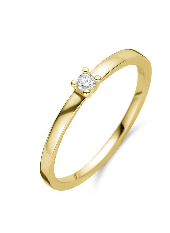 Ring goud 18kt 91EL24/A 0.05Ct