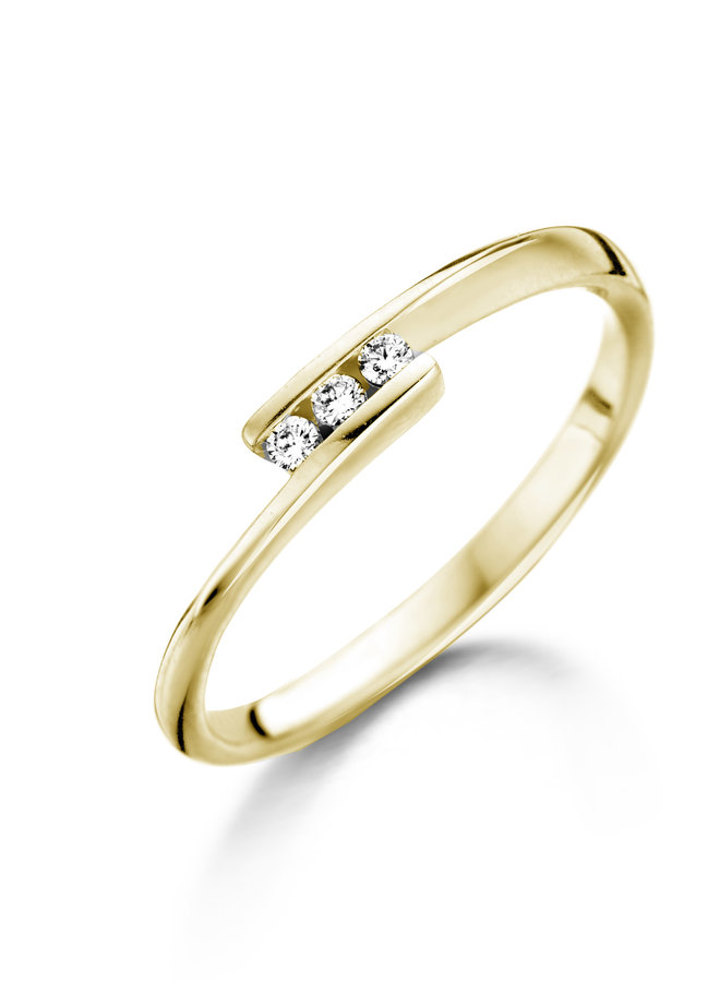 Ring Goud 18kt  057438/A 0.06Ct