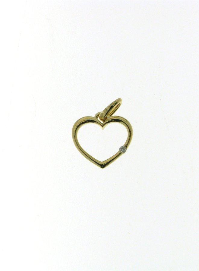 Hanger hart Goud 18kt  057838/A 0.01Ct