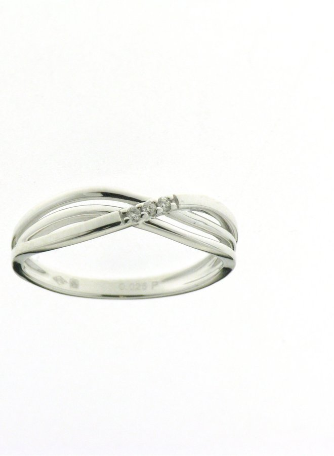 Ring Goud 18kt 057854/A 0.025Ct