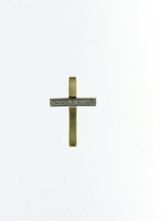 Hanger Kruis Goud 18kt 052948/A 0.02Ct