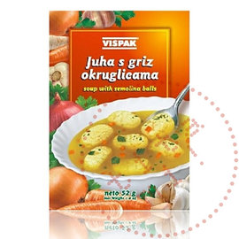 Vispak Juha sa Grizom   Semolina Balls Soup   Vispak 52G