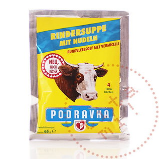 Podravka Govedja Rindfleischsuppe | Rindfleischsuppe / Juha S Testeninom | 65G
